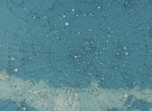 Fototapet premium, model 3d, harta constelației Atlas Of Astronomy, dimensiuni pe comanda