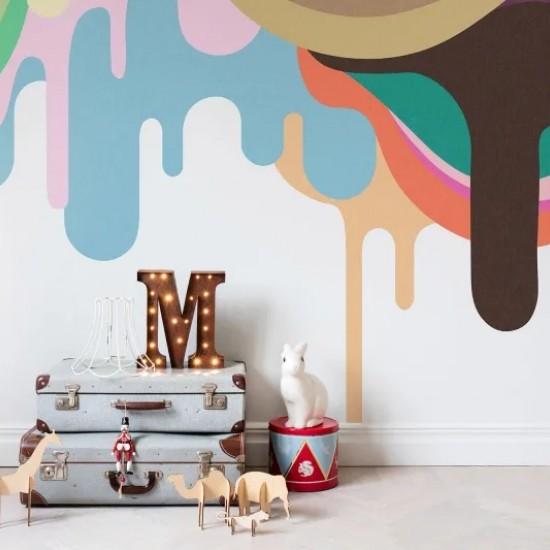 Fototapet premium, model 3d, amatorii de dulciuri, Dripping Ice Cream, Ceiling, dimensiuni pe comanda