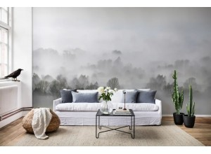 Fototapet premium, model 3d, ceața dimineții Morning Fog, Pastel, dimensiuni pe comanda