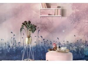 Fototapet premium, model 3d, cameră relaxantă Pink Dawn, dimensiuni pe comanda