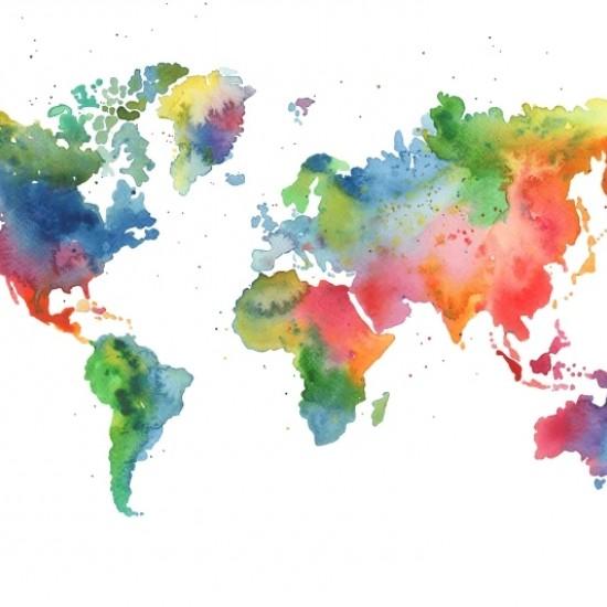 Fototapet premium, model 3d, harta lumii, dimensiuni pe comanda