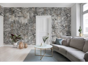 Fototapet premium, model 3d, jungla tropicala Secret Garden, Bali Boards, dimensiuni pe comanda