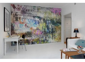 Fototapet premium, model 3d, alee cu caracter urban, Street Art, brick wall dimensiuni pe comanda