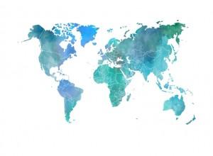 Fototapet premium, model 3d, contururile continentelor, dimensiuni pe comanda