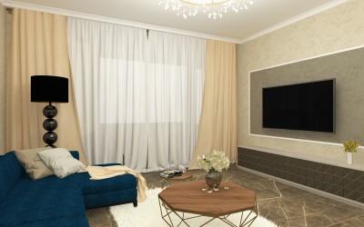 Proiect  design interior Ramnicu Valcea - Stil contemporan cu accente luxury