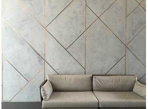 Vopsea Decorativa Marmorino KS  Mozaic cu Rosturi Metalice