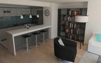 Design Interior -Apartament 2 camere , Bucuresti , stil Modern