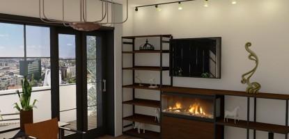 Design Interior -Apartament 2 camere , Bucuresti , stil Chic Industrial