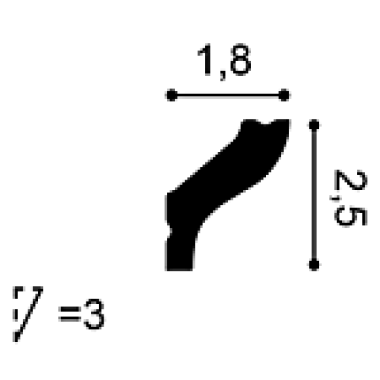 Cornisa Polistiren Orac CB500-2ML
