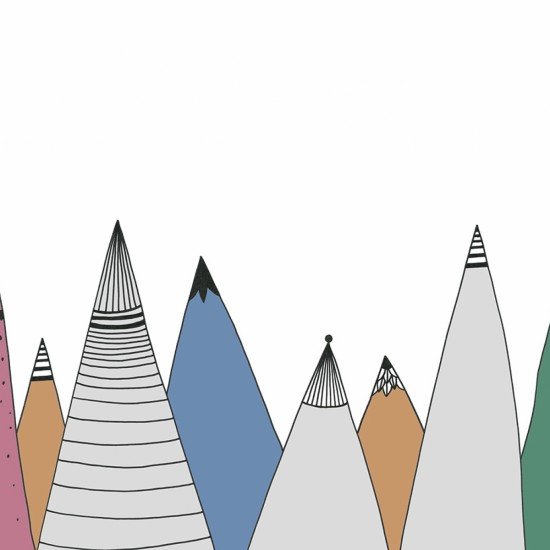 Fototapet premium, model 3d munti desenati color , dimensiuni pe comanda