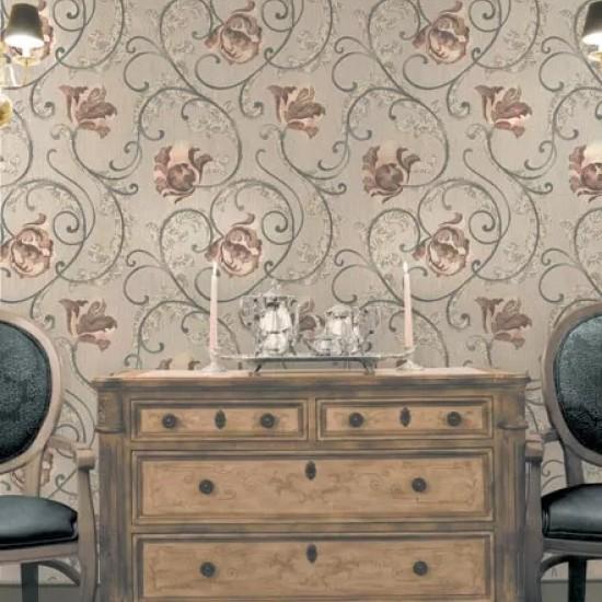 Tapet colectia Romantic, clasic, floral,  cod Z6730, rola de 5.3 mp