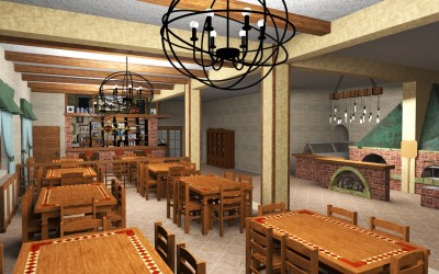 Proiect design interior pentru  restaurant
