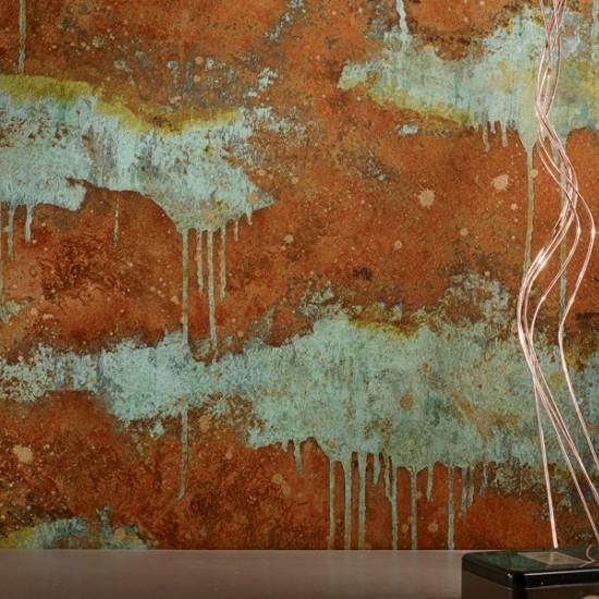 Vopsea decorativa cu efect de cupru oxidat-Verderame